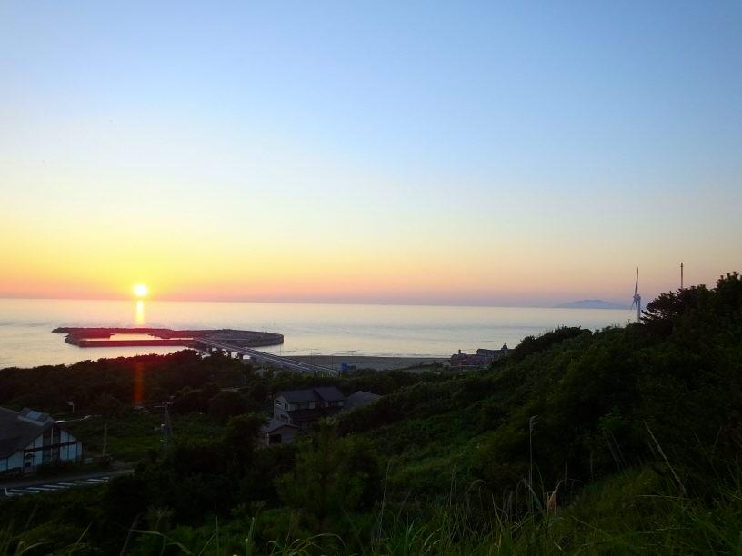 新鶴潟遠景③(夕暮れ)