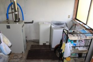⑮納戸 ボイラー&洗濯機